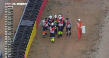 Rossi Crash-Aragon