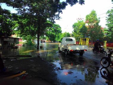 Banjir di Depan SMPN 1 Benjeng