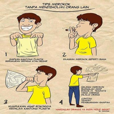 Tips Merokok tanpa berbagi